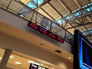 Uhren am Flughafen in Hamburg