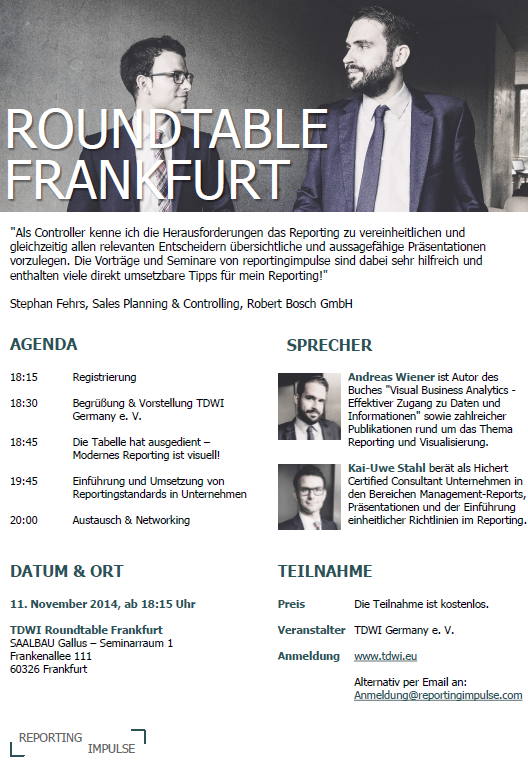 Flyer TDWI Roundtable Frankfurt_reportingimpulse